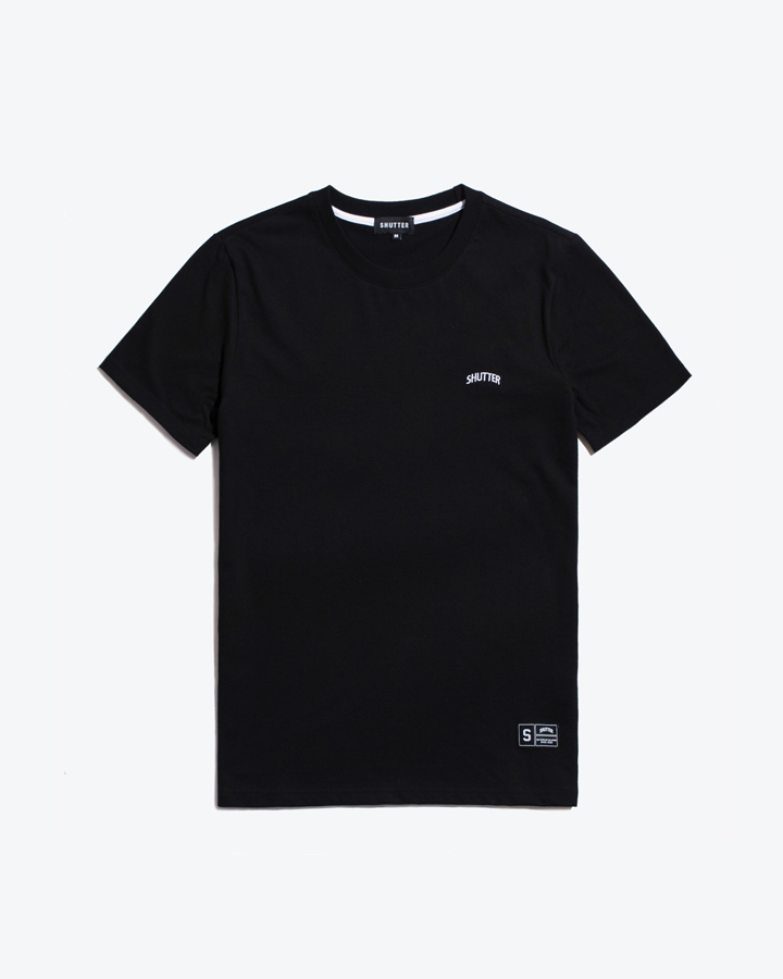 [셔터] STRIPE COTTON 1/2 티셔츠 (BLACK)