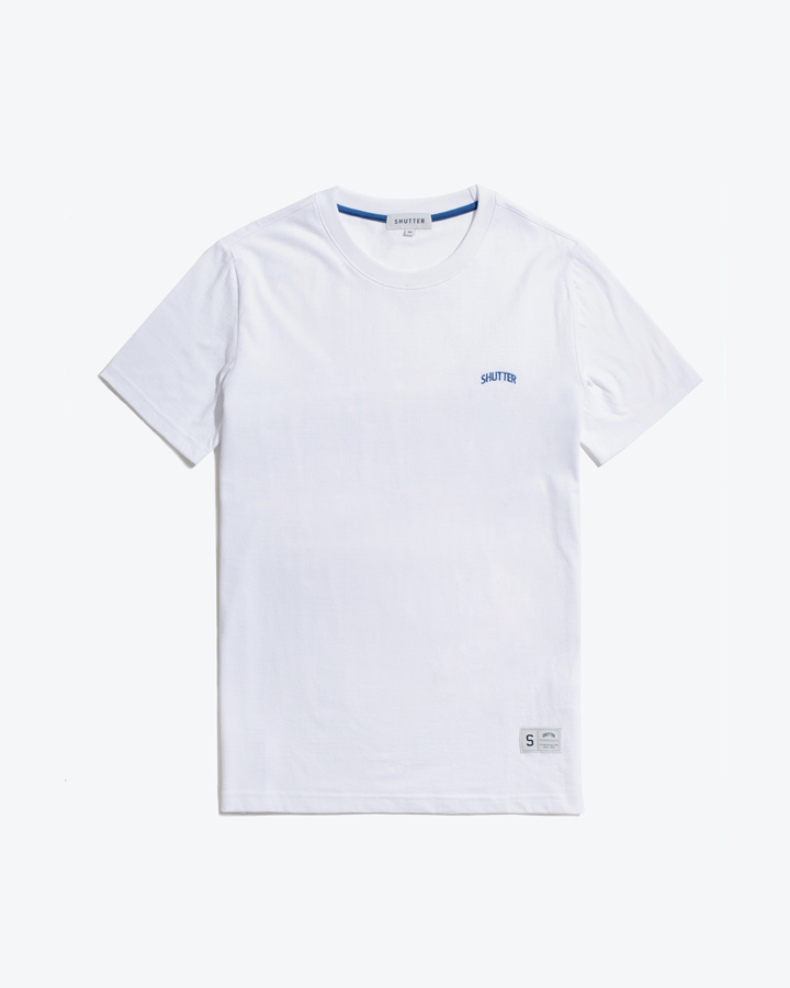 [셔터] STRIPE COTTON 1/2 티셔츠 (WHITE)